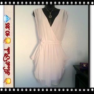 Bebe White Grecian Dress